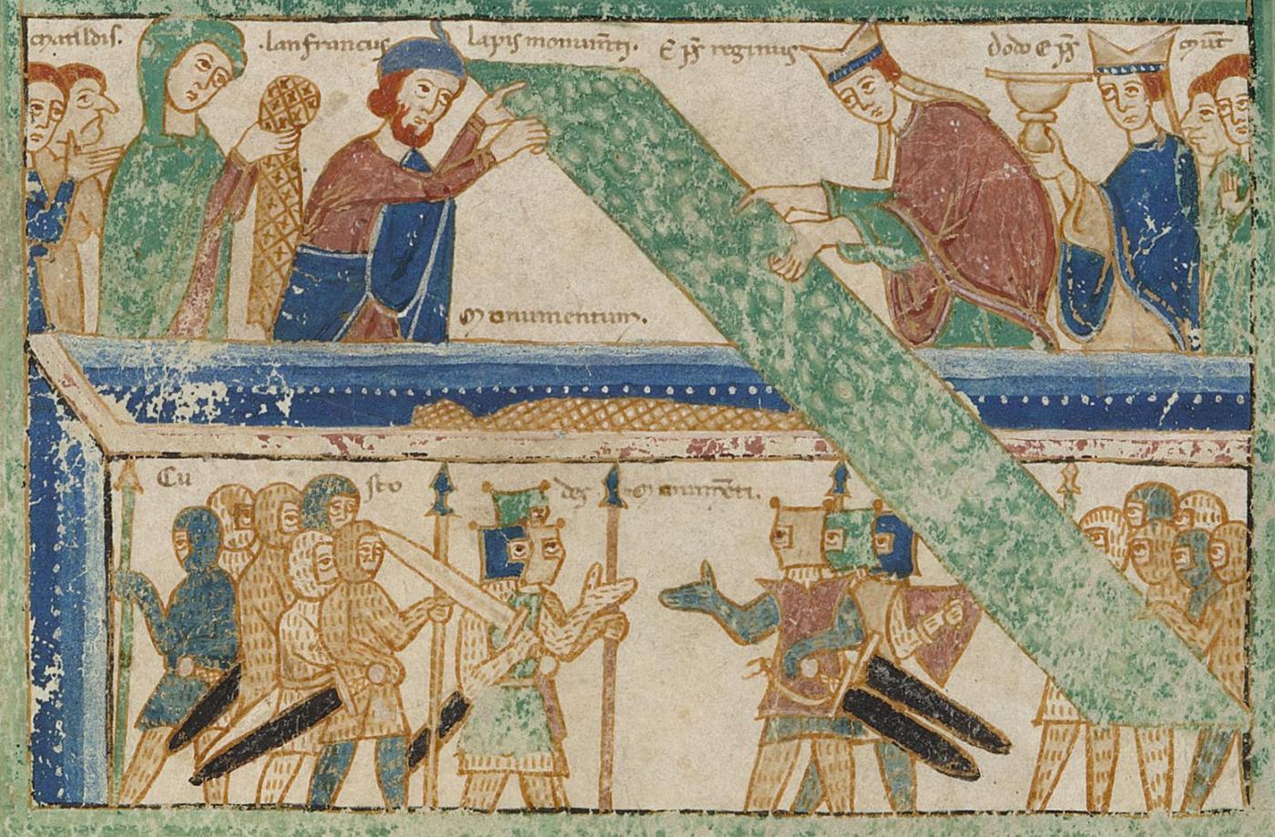 Apertura del sepolcro di San Geminiano nel 1106 (Ms. O.II.11)
