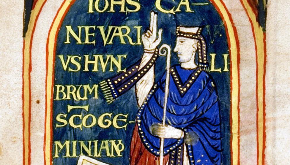 San Geminiano benedicente. Sec. XII (Ms. O.III.14)