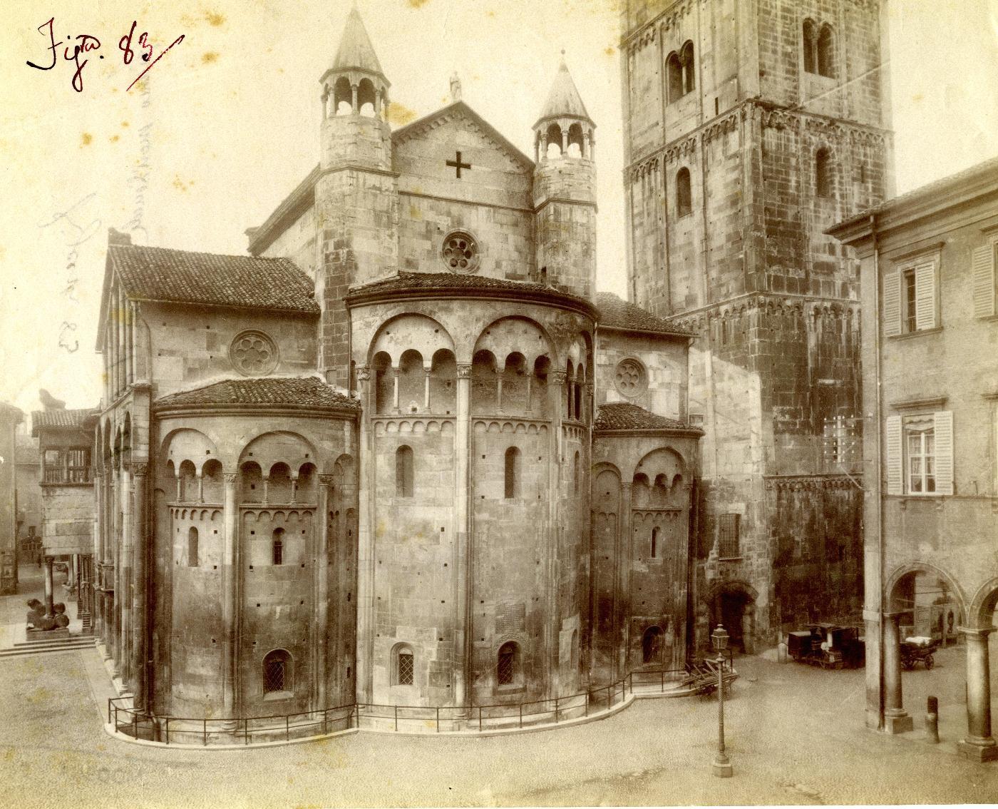 Veduta del Duomo di Modena. (Foto storiche dell'Archivio Capitolare)